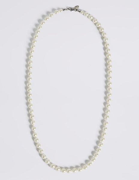 Pearl Effect Classic Mid Collar Necklace