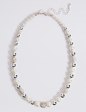 Pearl Effect Bead Necklace