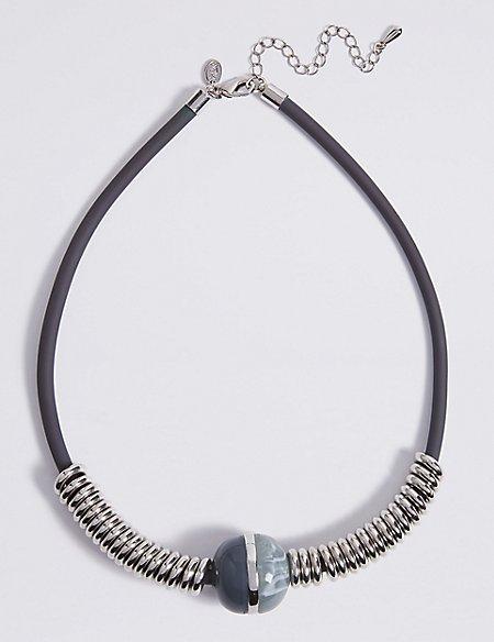 Opaque Big Ball Collar Necklace
