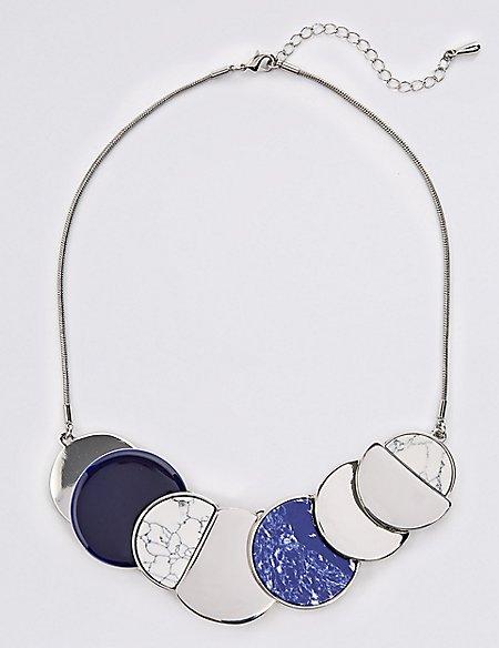 Flat Disc Collar Necklace