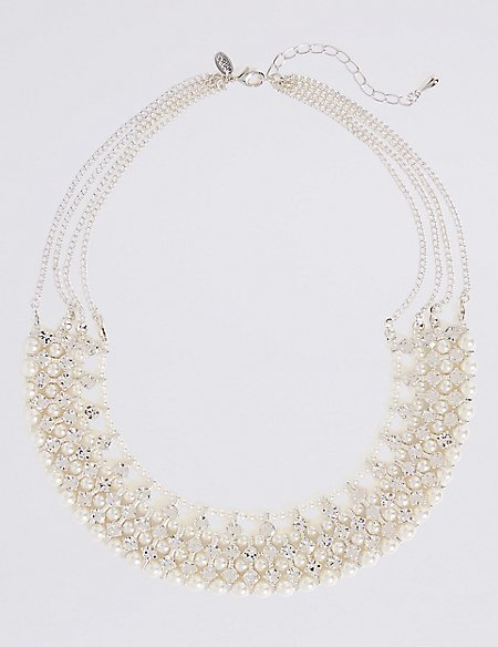 Pearl Effect Crystal Necklace