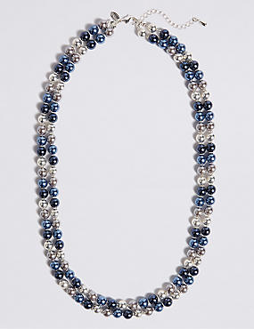 Coloured Pearl Double Row Necklace