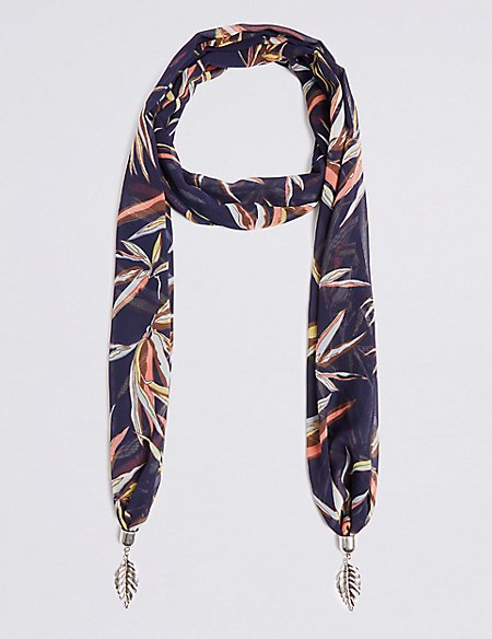 Printed Scarf Necklace