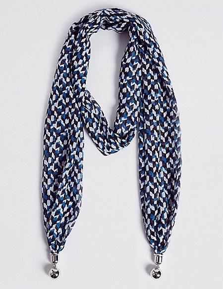 Abstract Scarf Necklace