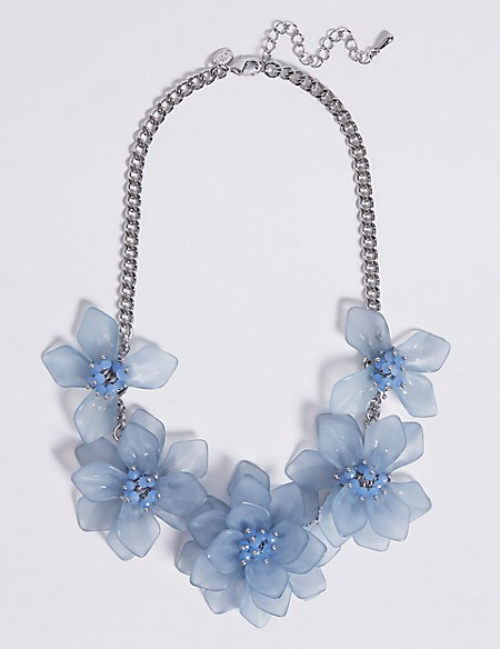the factory crystal fotor flower stock necklace products gold grande clear bead plated