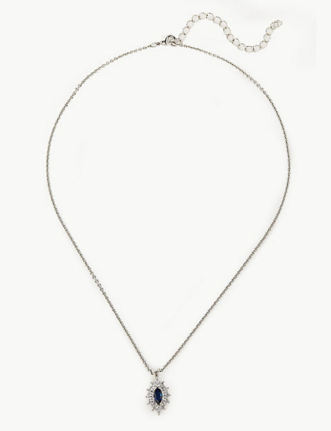 Platinum Plated Oval Necklace