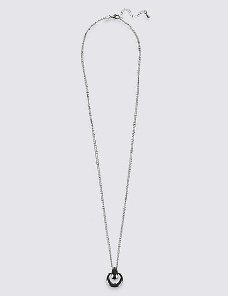 Silver Plated Solid Pendant Necklace