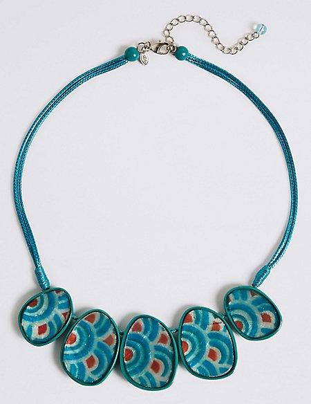 Aqua Jelly Collar Necklace