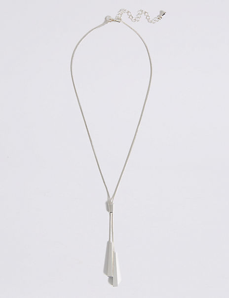 Silver Plated Sleek Y Necklace