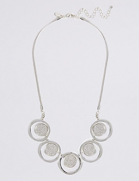 Silver Plated Glitter Necklace