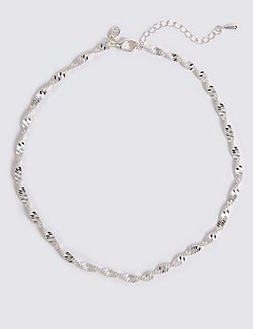 Postříbřený lesklý náhrdelník Postříbřený lesklý náhrdelník 8e742d1260