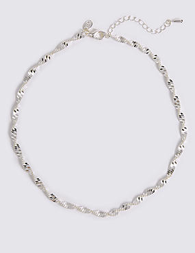 Silver Plated Sparkle Necklace