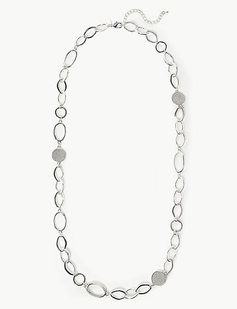 Glitter Chain Link Necklace