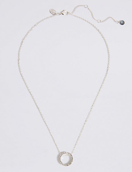 Silver Plated Simple Pendant Necklace
