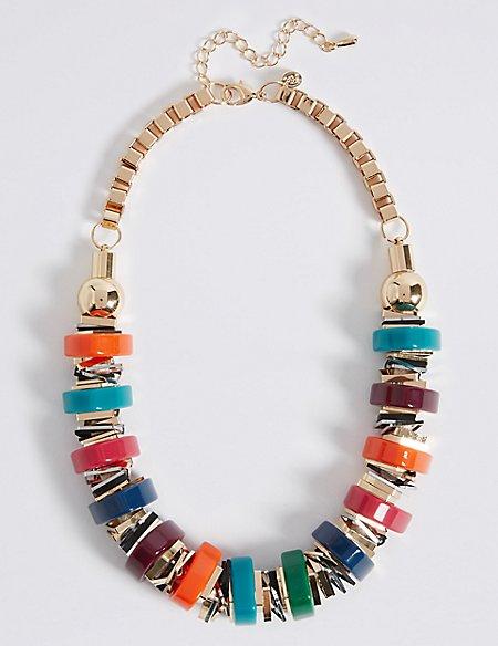 Chunky Tube Collar Necklace
