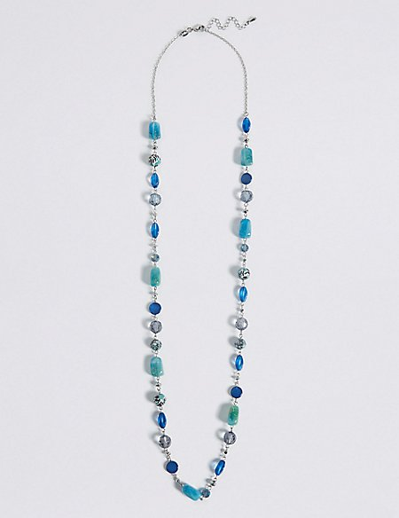 Glistening Beads Long Necklace