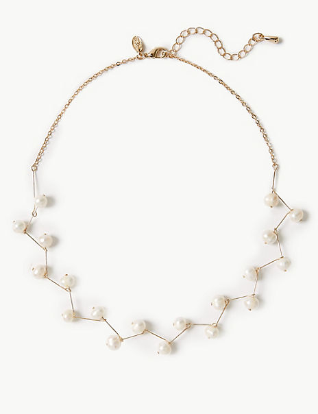 Fresh Water Pearl Sticks Necklace