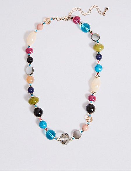 Luminous Facet Beads Necklace