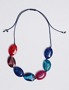 Mixed Pebble Collar Necklace