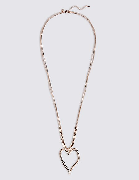 Hammered Heart Shape Necklace