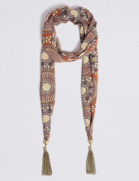 Crafted Spirit Tassel Jewellery Scarf