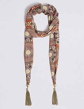 Crafted Spirit Tassel Scarf Necklace