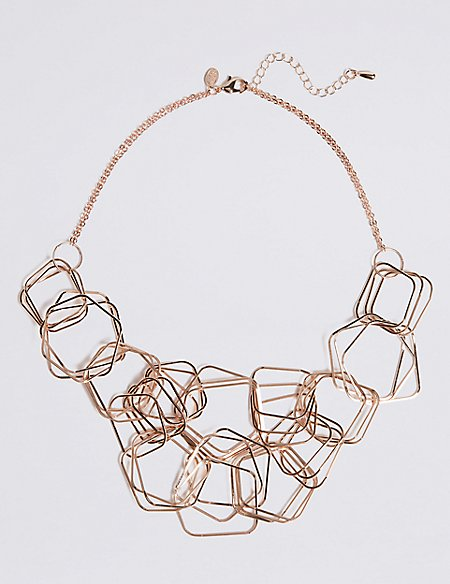 Hexagon Links Necklace