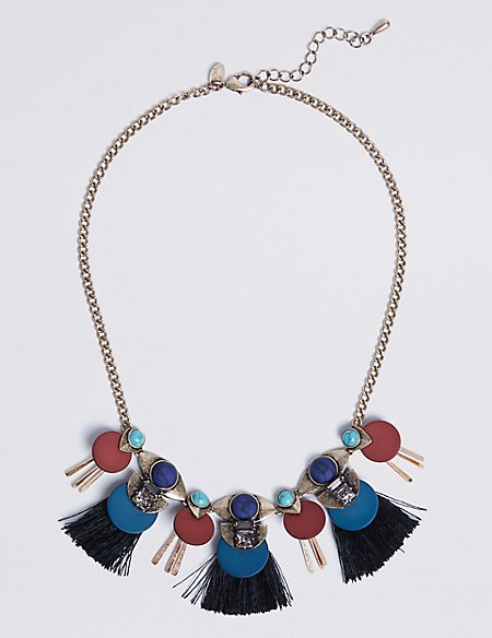 Mix Up Tassel Necklace
