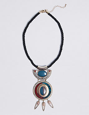 Tiered Stone Statement Necklace