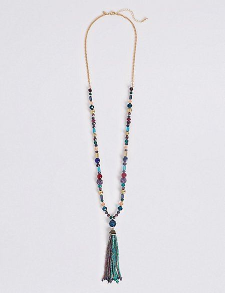 Bling Tassel Necklace