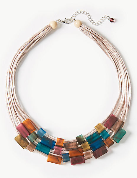 Connect Tube Collar Necklace