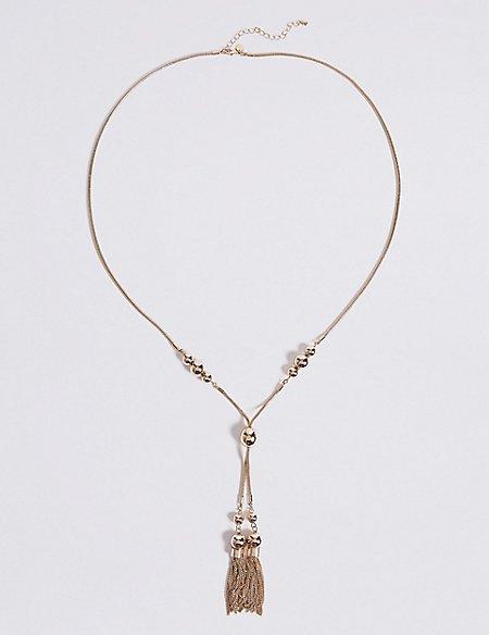 Ball Chain Tassel Necklace