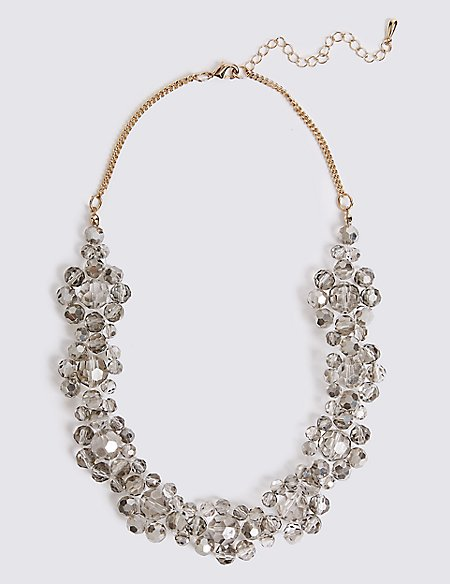 Glass Beaded Collar Necklace