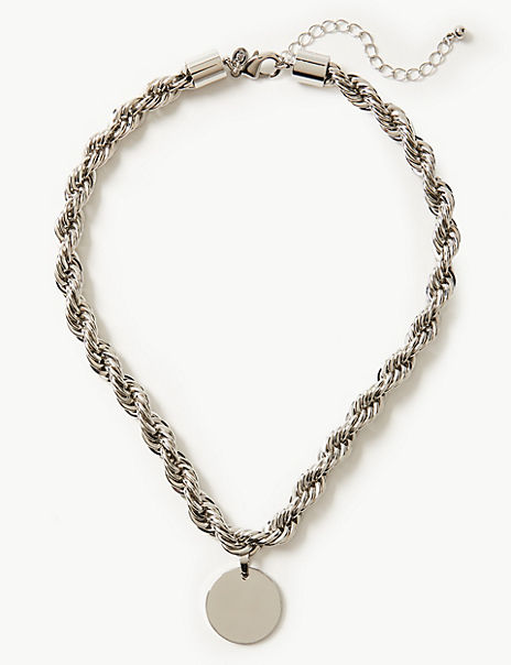 Chunky Twist Rope Necklace