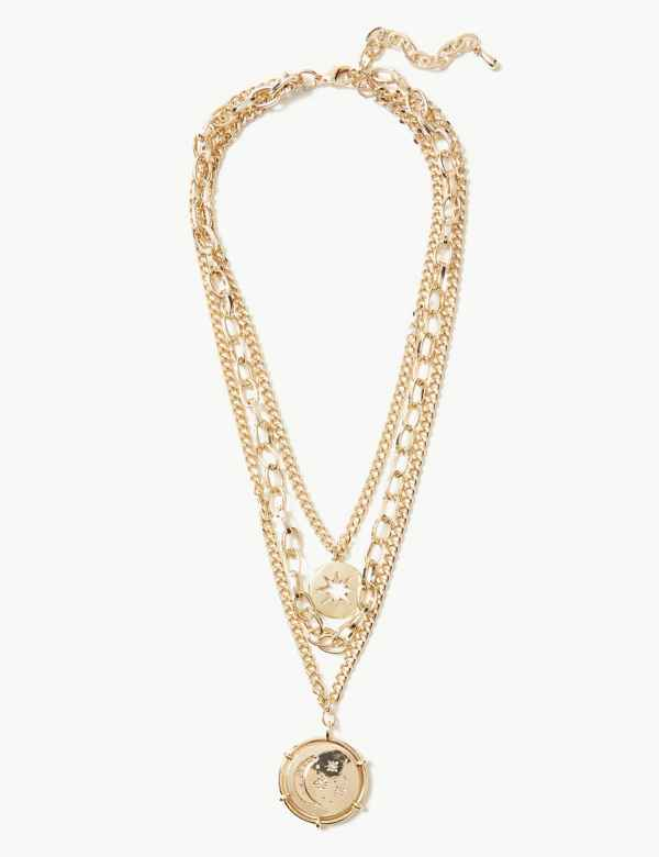 b5007ad8211 Layered Star Disc Necklace