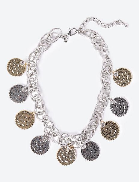 Colour Mix Coins Necklace