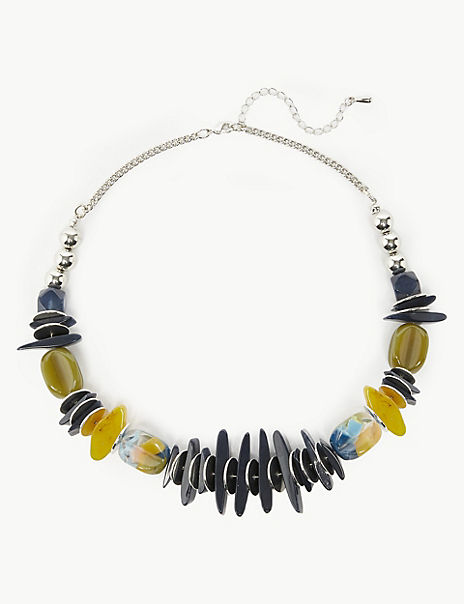 Mixed Stones Collar Necklace