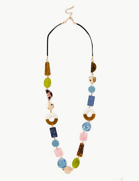 Mixed Stone Long Rope Necklace