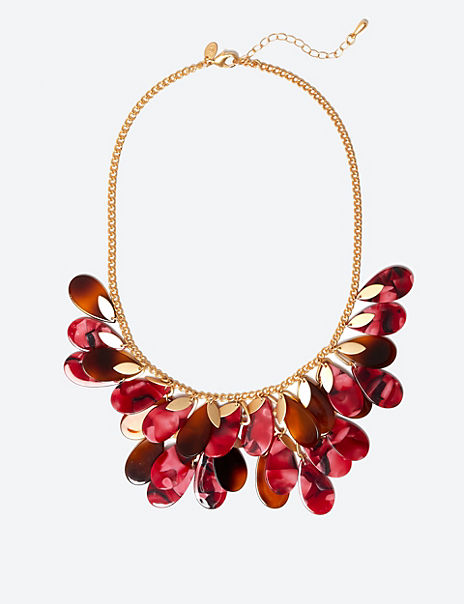 Leaf Waterfall Necklace