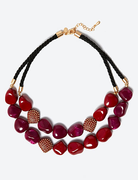 Studded Bead Necklace