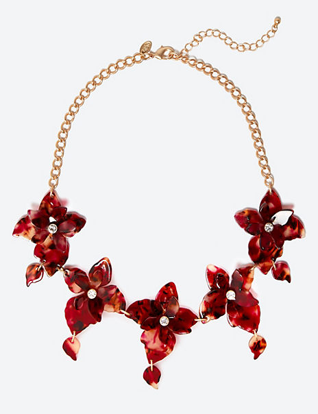 Oriental Flower Necklace