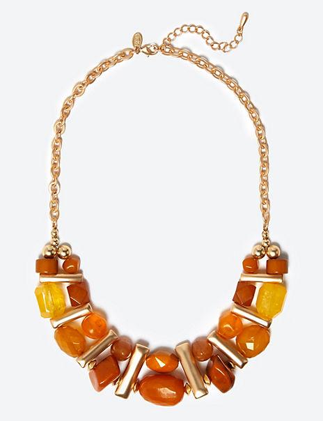 Fan Bar Collar Necklace
