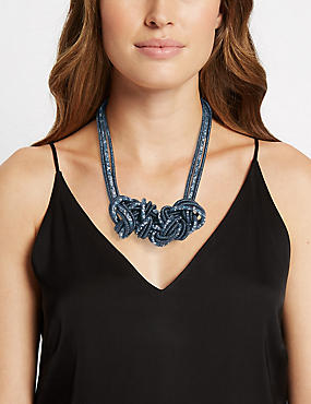 Sequin Twist Collar Necklace