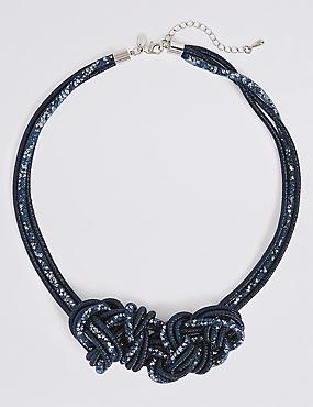 Sequin Twist Collar Necklace