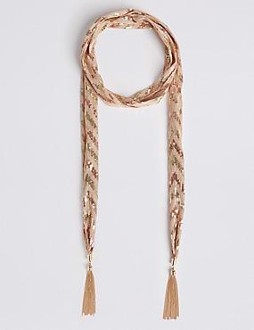 Bling Tassel Jewellery Scarf