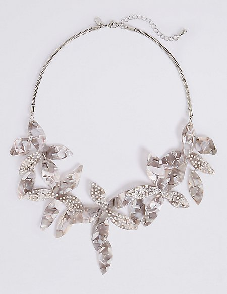 Dramatic Flower Necklace