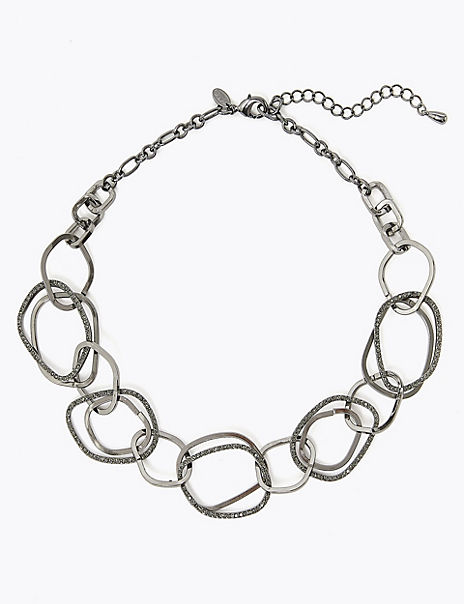 Mix Shape Collar Necklace