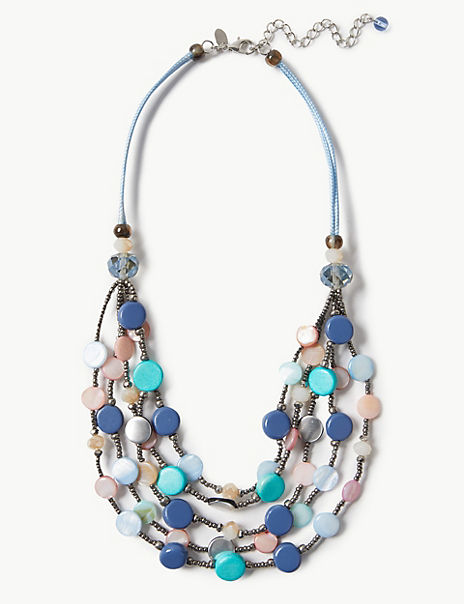 Shell Multi Row Necklace