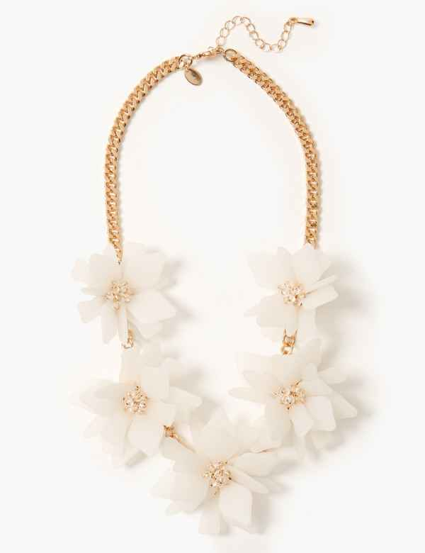 4c2a2e19b5b4 Glitter Flower Collar Necklace