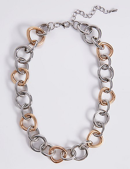 Tri Circle Link Necklace